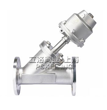 PSK10045盖米法兰式气动角座阀