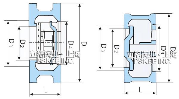 对夹式止回阀结构图