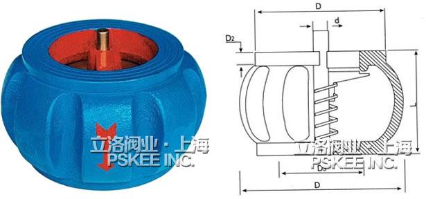 h71xt系列南瓜型对夹式止回阀是利用管线内部压力