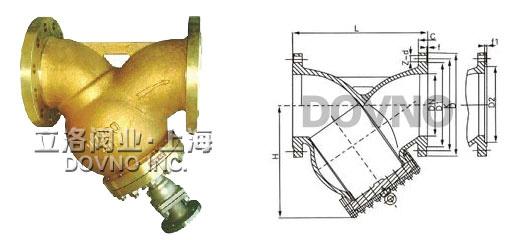 y型铜氧气过滤器结构图