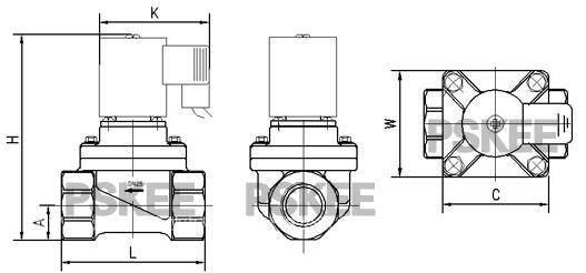 CPVC防腐蚀电磁阀结构图