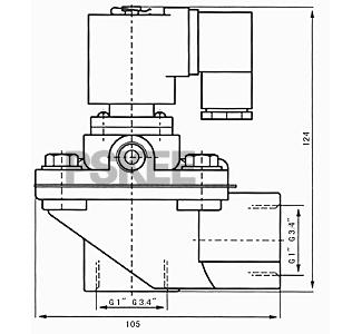 脉冲式防爆电磁阀尺寸图1
