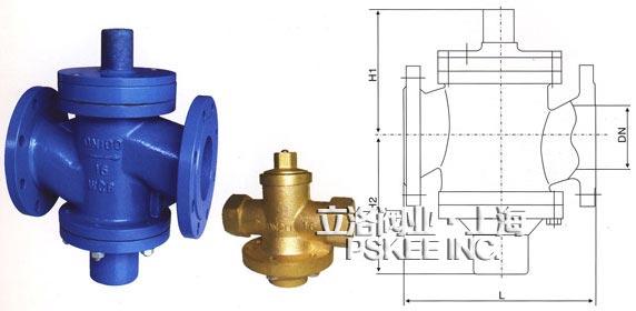 自力式压差平衡阀按照安装在供水管还是回水管上,分为供水式结构和图片